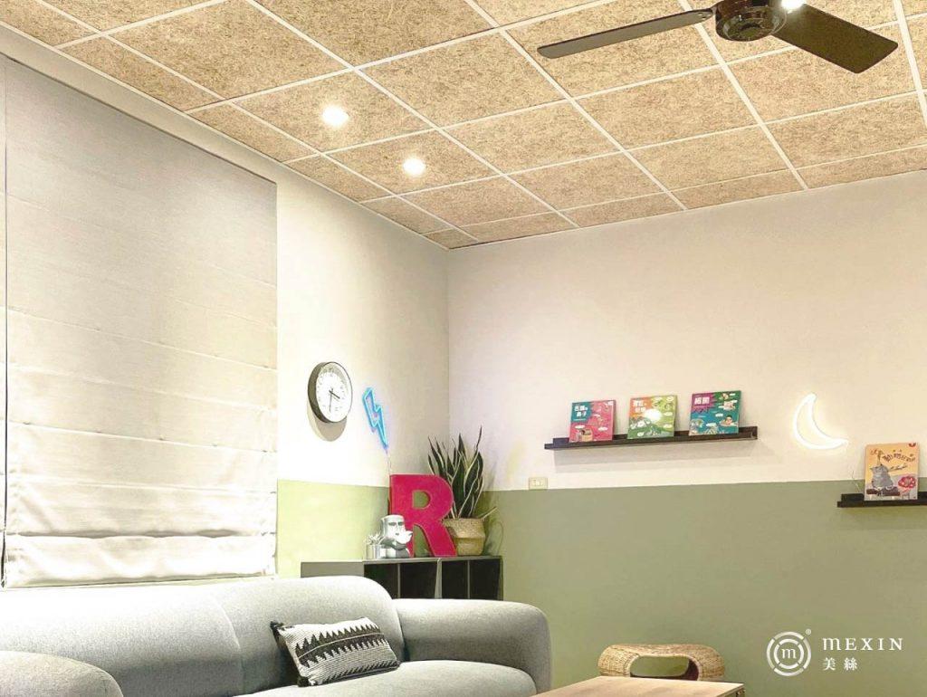 美絲板表面的木絲紋路,展現舒適的自然情調。(圖片提供/Carol/莯比室內裝修)